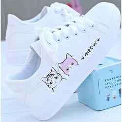 Meow Runners - pink cats / 4 - shoes