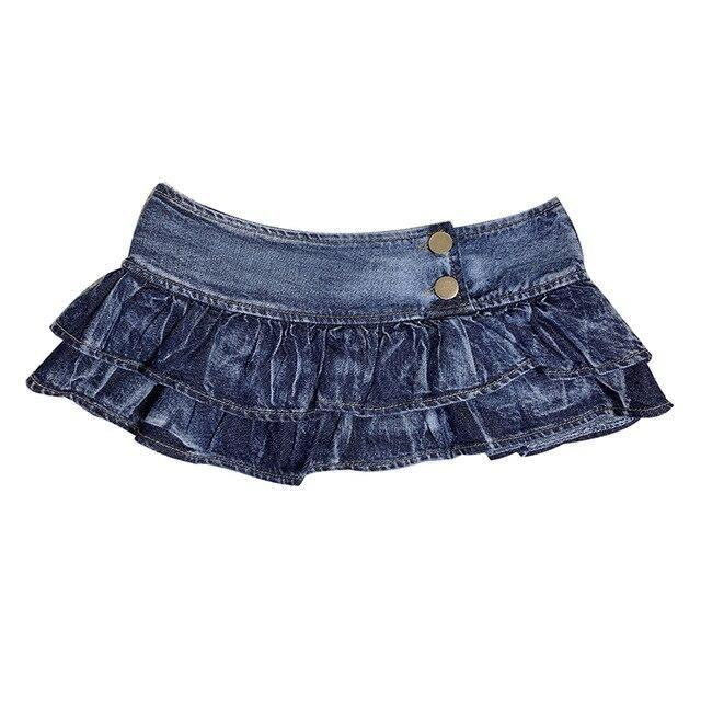 Micro Denim Mini Skirt - skirt