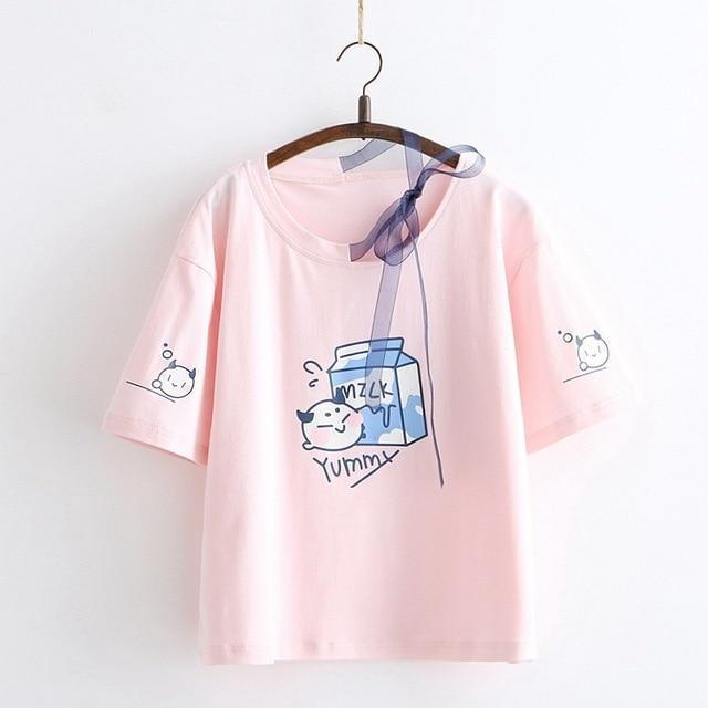 Milk & Cookies Tee - Pink - shirt