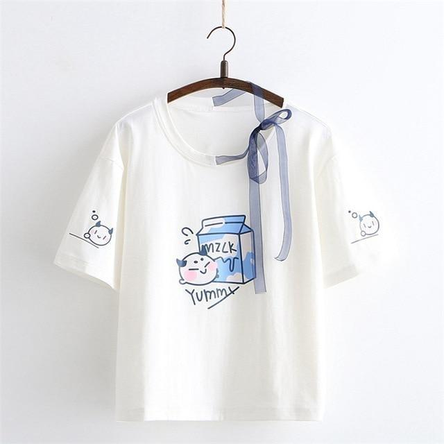 Milk & Cookies Tee - White - shirt