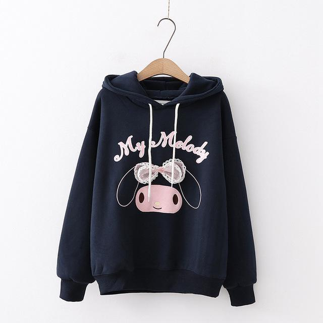 My Melody Hoodie - Navy Blue - sweater