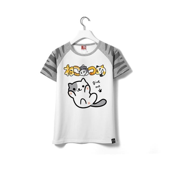 Neko Atsume Kitten T-Shirt Tee Top Anime Kawaii Cute Shirt