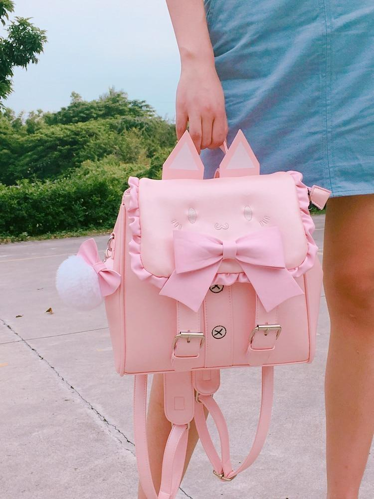 Neko Baby Backpack - Pink - backpack