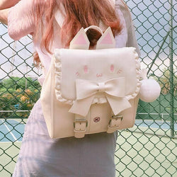 Neko Baby Backpack - White - backpack