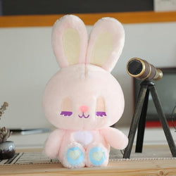 Pastel Bunny & Bear Plushies - Pink Bunny Plush - stuffed animal