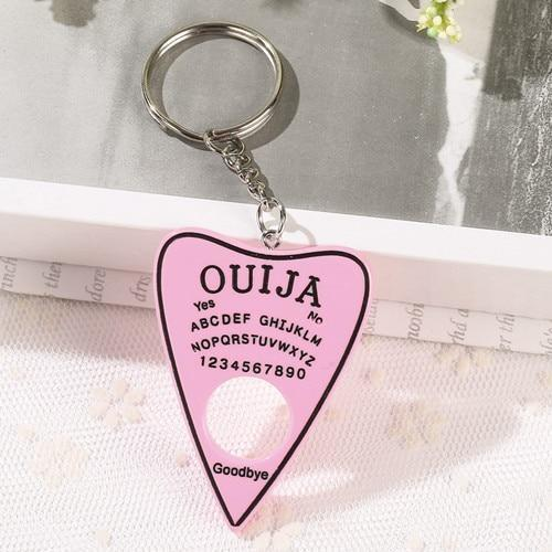 Pastel Ouija Keychain - solid pink - key chain