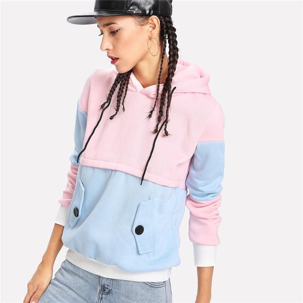 Pastel Patchwork Pullover Hoodie Sweater Sweatshirt Jacket Fall Spring Fashion Milky Fairy Kei
