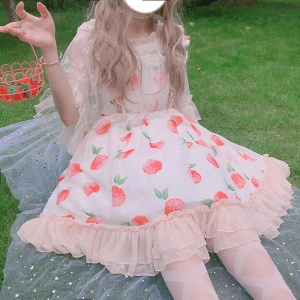 Peaches n Cream Lolita Dress - dress