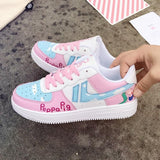 Pink Peppa The Pig Sneakers Flat Shoes Running Athletic Footwear Kawaii Fairy Kei Little Space by DDLG Playground