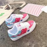 Red Peppa The Pig Sneakers Flat Shoes Running Athletic Footwear Kawaii Fairy Kei Little Space by DDLG Playground