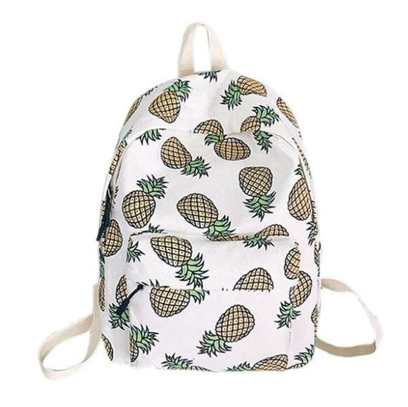 Pineapple Book Bag Backpack Harajuku Kawaii Fashion Bag Tropical Fruit