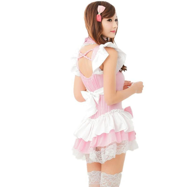 Pink Princess Ruffled Adult Onesie Dress Skirt Kawaii Fashion Baby Girl Doll Pastel Sweet