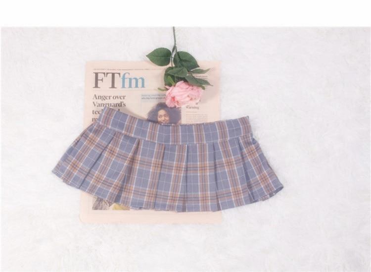 Plaid Micro Skirt - tennis skirt