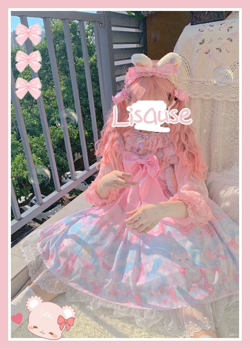 Pocket Kitten Lolita Dress - cat dress, dresses, chiffon, classic lolita, fairy kei
