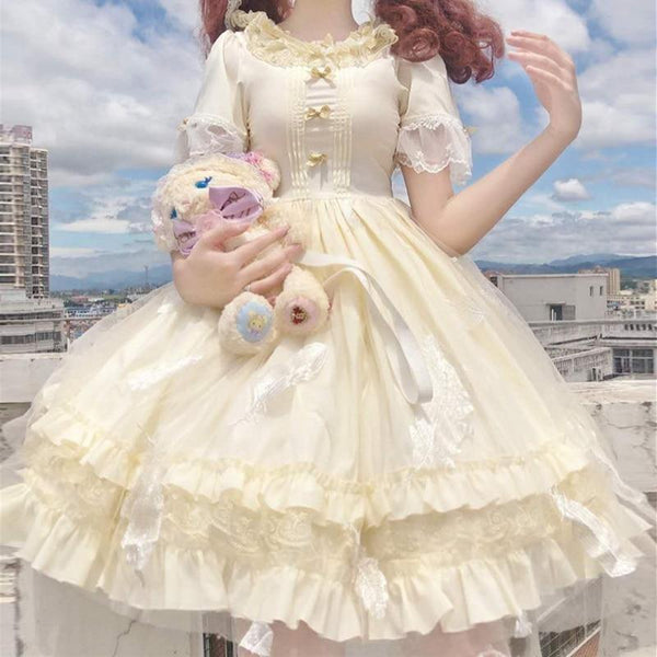 Princess Lemon Lolita Dress - canary, classic lolita, dresses, egl, girly
