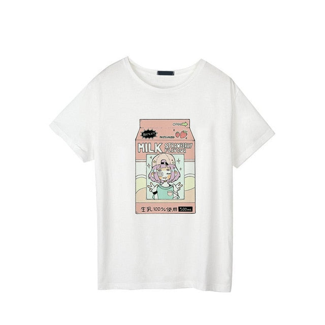 Strawberry Milk Graphic Tee