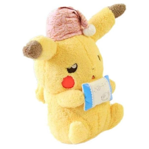 Sleepy Kawaii Pikachu Plush Toy Sleeping Pokemon Stuffed Animal