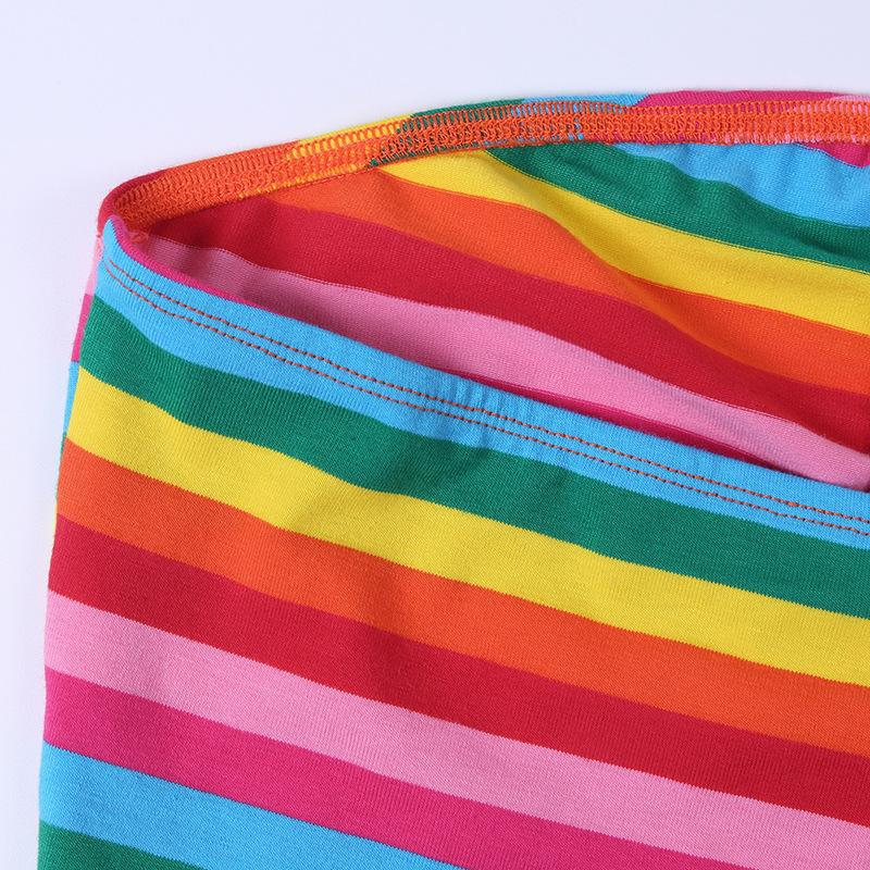 Rainbow Halter Top Cropped Belly Shirt Gay Pride