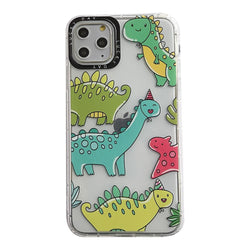 Transparent Dino iPhone Case