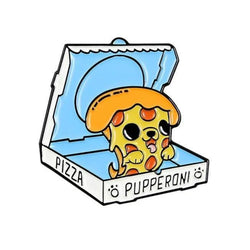 Pupperoni Pizza Enamel Pin
