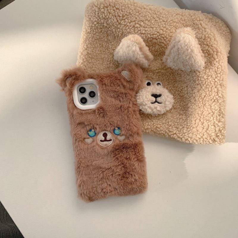 Fuzzy Sparkle Bear iPhone Case