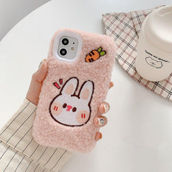 Fuzzy Bunny & Bear iPhone Case