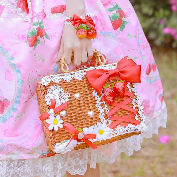 Wicker Strawberry Purse