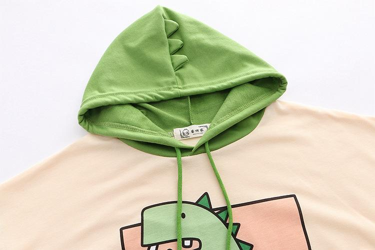 Japanese Hooded Dino Tee