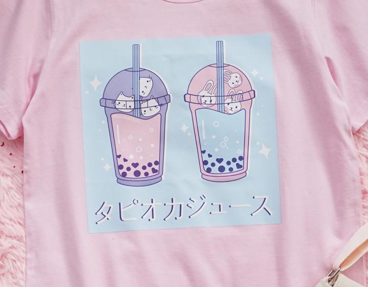 Bubble Tea Kitten Tee