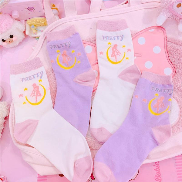 Pretty Usagi Socks (Two Pairs)
