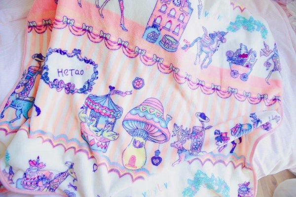 Fairyland Carnival Fuzzy Blanket Set