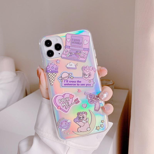 Holographic Fairy-Kei iPhone Case