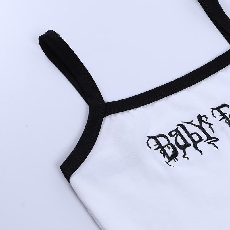 Gothic Baby Girl Cropped Tank