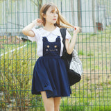 Kitty Cat Paws Suspender Dress
