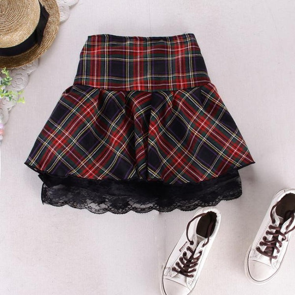 Plaid School Girl Skirt