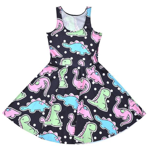 dinosaur kidcore skater dress pastel goth creepy cute aesthetic plus size fashion by kawaii babe