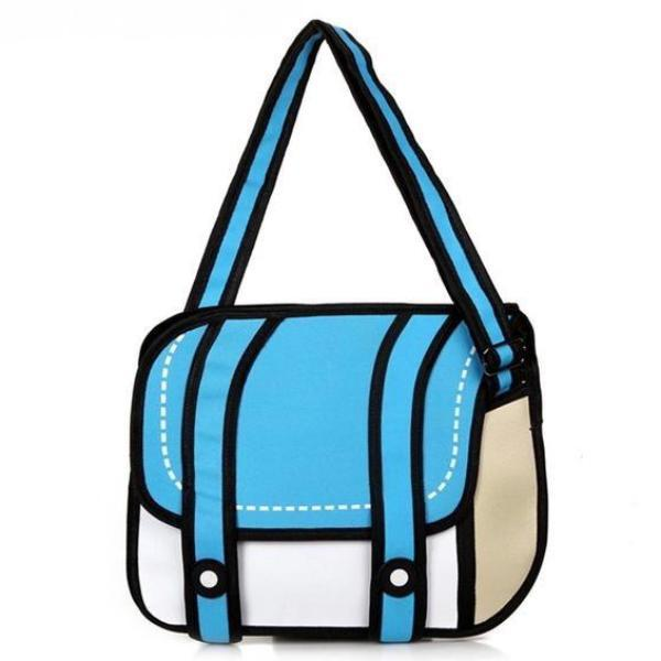 2D Messenger Shoulder Bag Cartoon Style Backpack Handbag Anime Harajuku Japan Mind Bending Mind Trick by Kawaii Babe