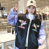 Harajuku Holographic J-Fashion Baseball Jacket Jersey Jock Sports Fairy Kei Pastel Menhara Kei Sweater Coat