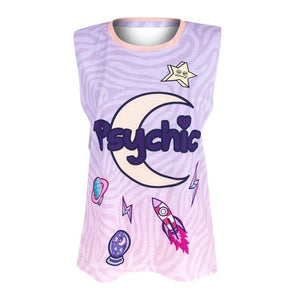 psychic pastel goth fairy kei tank top muscle tee shirt lavender purple witchy wicca witchcraft new age spiritual movement by kawaii babe