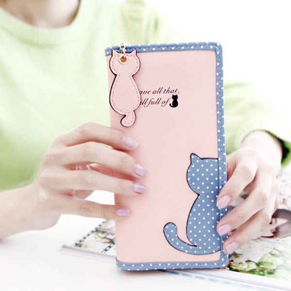 Kitten Full Zippered Wallet