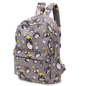 My Neighbor Totoro Studio GHibli Grey Backpack Book Bag Ruck Sack Knapsack Kawaii Harajuku