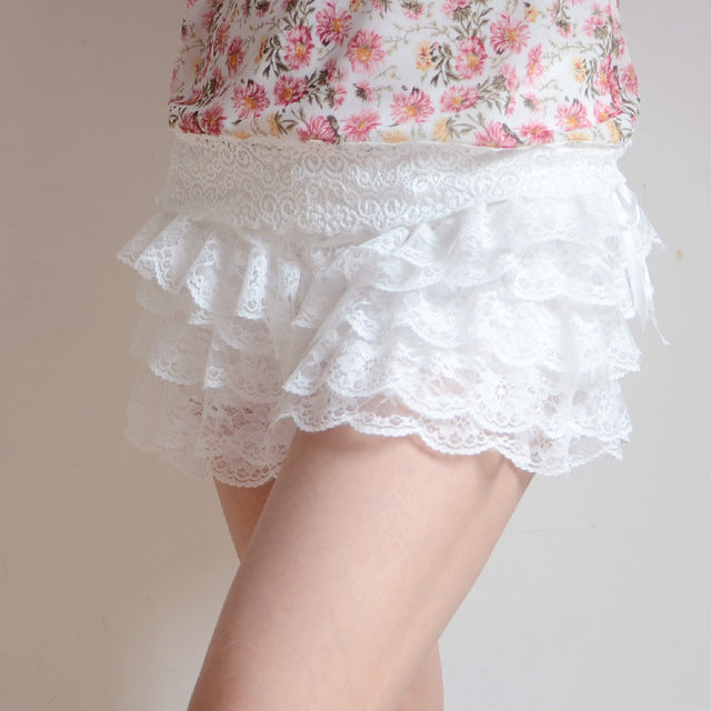 Frilly Lace Bloomers Shorts Kawaii Sweet Lolita Skirt Lacy Princess Harajuku J-Fashion by Kawaii Babe