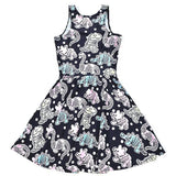 skeleton dinosaur bones skater dress pastel goth creepy cute aesthetic plus size fashion by kawaii babe