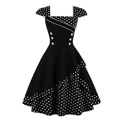 1950s retro vintage flapper dress polkadot dotted button up pin up girl dresses cute kawaii harajuku japan fashion by kawaii babe