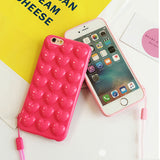 bubble heart phone case for apple iphone cover protector squishy squeeze bubbles bubbly love soft 3d rubber silicone harajuku japan fashion by kawaii babe