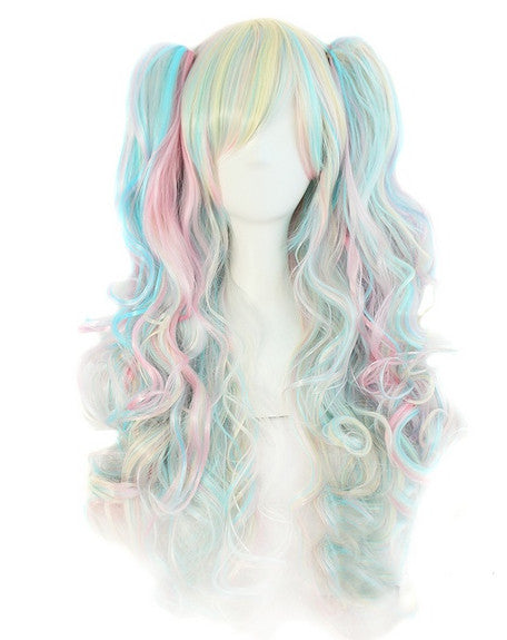 Multi-Color Pigtail Wigs