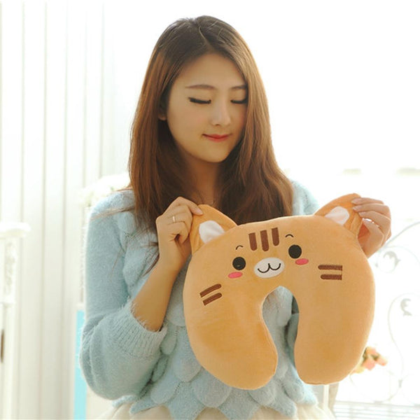kawaii baby animals neck support pillow u shaped cushion travel cartoon animal airplane headrest by kawaii babe