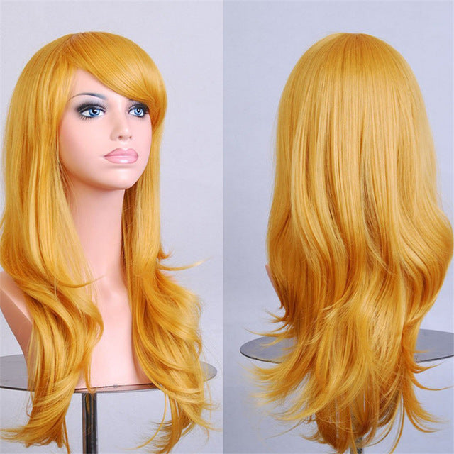 Solid Color Long Wigs