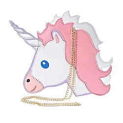 magical unicorn holographic 3d purse handbag shoulder bag gold strap chain kawaii harajuku japan fashion by kawaii babe