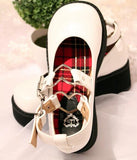 White Gothic Lolita Shoes Traditional Platform Buckled Platform Heels ECG COmmunity DDLG BDSM School Girl Cosplay Outfit Costume by Kawaii Babe